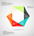 hexagon origami infographic vector image vector image