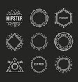 hipster burst logo sun text anchor sun ray cross vector image
