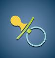Icon baby nipple vector image vector image