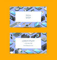 isometric gadgets icons business card vector image vector image