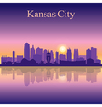 Kansas City silhouette on sunset background vector image vector image