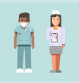 medical workers or hospital doctors man physician vector image vector image