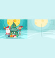 merry christmas card new year postcard vector image vector image