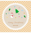 Merry Christmas greeting card24 vector image
