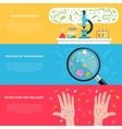 Microbiology banner set vector image