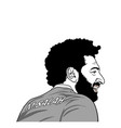 mohamed salah black and white portrait editorial vector image vector image