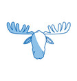 moose antler animal natural wildlife image vector image vector image