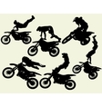 moto freestyle set vector image vector image