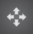 move sketch logo doodle icon vector image vector image
