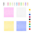 multi-colored stickers vector image