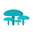 Mushrooms on white background vector image vector image