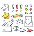 office paper and pencil for writing set vector image vector image