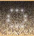 pentagon gold halftone dot abstract background vector image vector image