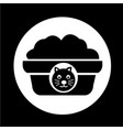 pet cat food icon vector image
