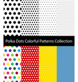 polka dots collection vector image