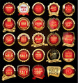 retro vintage red badges and labels collection vector image