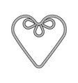 rope decor heart vector image vector image