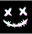 scary smile face for halloween vector image vector image