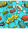 seamless pattern of comic speech bubble vector image