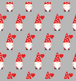 seamless pattern with cute valentine gnome holding vector image vector image