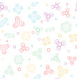 seamless pattern with fidget spiner vector image vector image