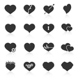 set abstract heart icons vector image vector image