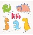 set cute dinosaurs vector image vector image