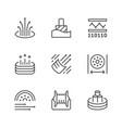 set line icons optical fiber vector image
