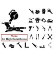 set of 24 tools icons vector image vector image