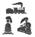 set trains icons isolated on white background vector image