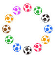 soccer ball around with copy space vector image vector image