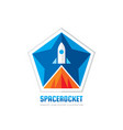 space rocket - concept logo template vector image