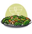steamy vegetables vector image