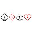 suit deck playing cards on white background vector image vector image