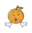 surprised orange fruit cartoon character vector image vector image