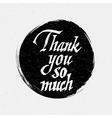 Thank you so much insignia and labels for any use vector image