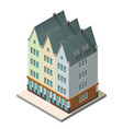 the old residential building in european style vector image vector image