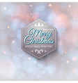 Typographic label Merry Christmas and Happy New vector image vector image