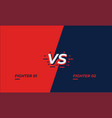 versus screen design battle headline template vector image vector image