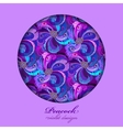 Violet lilac and blue peacock feathers Circle vector image