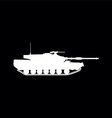 weapon tank vector image vector image