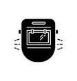 welder mask black glyph icon vector image