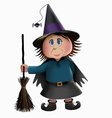 Witch and Broomstick vector image