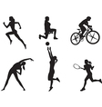 Women in different kinds sport