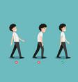 Wrong and correct walking posture vector image