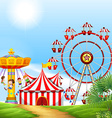 Children having fun at the carnival vector image
