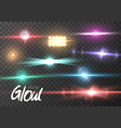 lens flare effect vector image