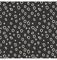 Modern seamless pattern of circles monochrome vector image