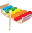 Childs Toy Xylophone vector image