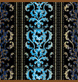 baroque striped seamless pattern luxury antique vector image